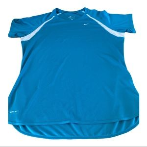 Nike Dri Fit Active Wear Top with White & Teal